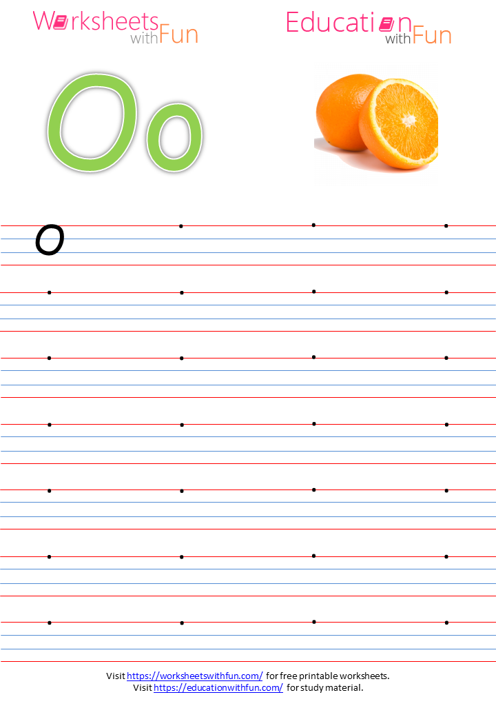 English Preschool Capital Letter O Practice Page - 32+ Letter O Worksheets For Kindergarten Pdf Pics