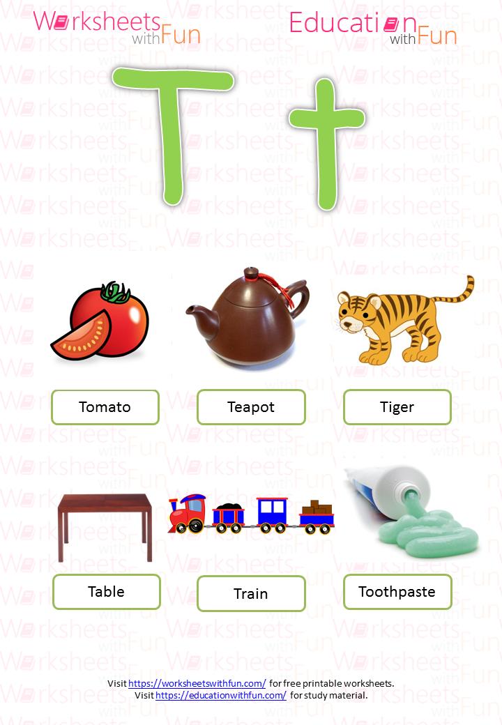 English Preschool Learning The Alphabet Letter T - Download Letter T Worksheets For Kindergarten Pdf Background
