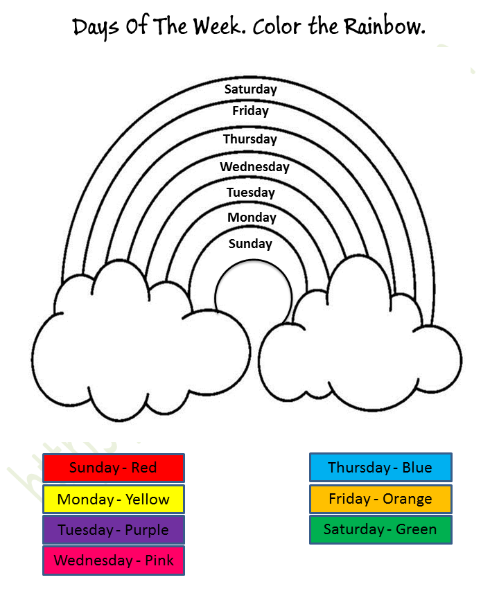 Mathematics - Preschool: Days Of The Week Worksheet 2
