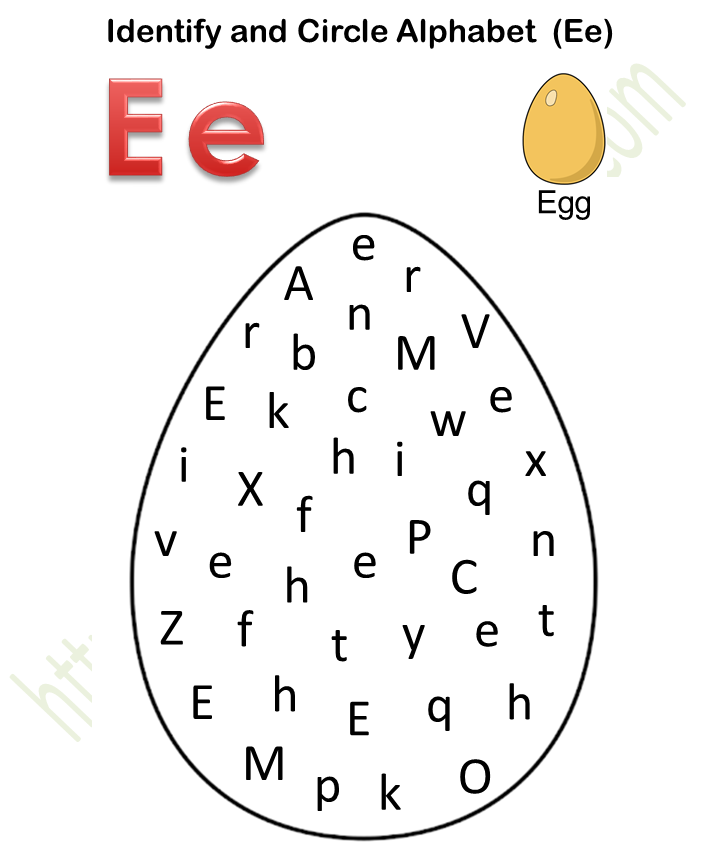 Course: English - Preschool, Topic: Identify And Circle Alphabet Worksheets